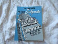 Blaw Knox Subgrader Equipment Construction Brochure