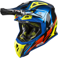 Airoh Great Blue Chrome Aviator 2.3 MX Helmet Motocross Enduro S M L XL