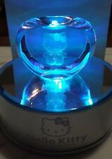 Hello Kitty Glass Apple Figurine with Case and Mirrored Led lighted Platform