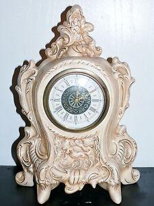 Vintage Norco West Germany Wind Up Porcelain Mantel Alarm Clock Cherubs Works
