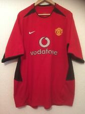 MANCHESTER UNITED F.C  HOME  2002 / 2004 FOOTBALL SHIRT