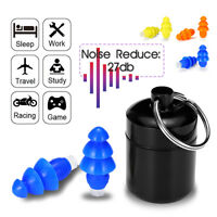 27 Noise Cancelling Earplugs Hearing Protection Soundproof Reusable For Concerts