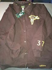New Vintage Throwback Football Coat, Ny Brown Bombers, 4Xl