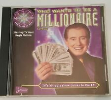 Who Wants to Be a Millionaire CD-ROM Starring TV Host Regis Philbin  (PC, 1999)
