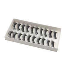 10 pares de pestanas postizas largas cruzadas Maquillaje Natural 3D falso pes V6