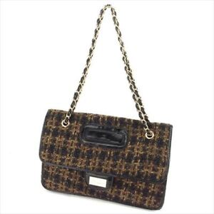 Francesco Biasia Handbag Black Brown Woman Authentic Used T6584