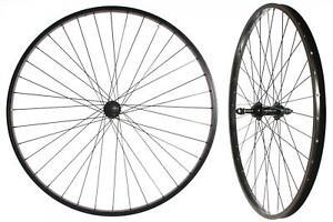 """Par De 26"""" Completamente Negro Ruedas Eje Resistente 5/6/7 Speed (Freewheel)"""