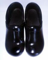 DANSKO Professional Stapled CLOGS Ladies EUR 34 US 4 Black Patent Round Slip On