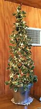 Lighted Eucalyptus Decorated Seasonal or Holiday Floral Topiary - Stunning!