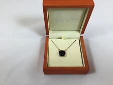 "NWT Argento Vivo Square Black Onyx Gemstone Sterling Silver 16"" Necklace"