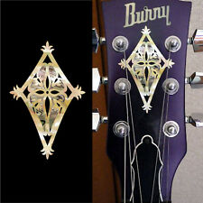 Shield (Aged White Pearl) Inlay Sticker Guitar Bass Headstock Peghead