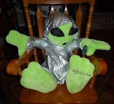 """LARGE 30"""" ALIEN PLUSH FROM AREA 51 ROSWELL N.M. WITH A HOODIE FROM KELLYTOY"""