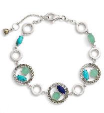 JUDITH JACK 'Alluring Oasis' Swarovski Turquoise Sterling Line Bracelet $178