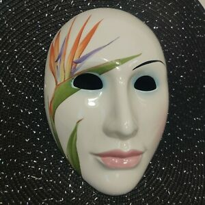 Vintage 1980's Pelzman Vandor Japan Hand  Painted Art Deco Ceramic Mask