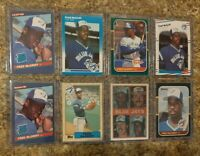8) Fred Mcgriff 1986 Donruss Leaf 1987 Fleer Topps Sportflics Rookie card lot RC