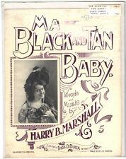 Rare Antique Original VTG 1900 Ma Black And Tan Baby Piano Sheet Music Print
