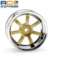 HPI Racing Rays Gram Lights 57s-Pro Wheels Chrome/Gold 6mm Offset (2) HPI3320