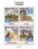 Guinea UNESCO Stamps 2020 MNH World Heritage Angkor Wat Pyramids Bagan 4v M/S