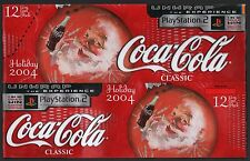 Coca Cola Cardboard 12-Pack Can Case - 2004 Santa Holiday Edition