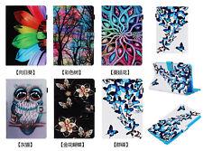 Butterfly Sunflower Owl Flower Wallet card holder Leather Case For Tablet kindle