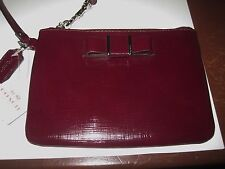 NWT Coach Darcy Wristlet Color is Sherry Bow in front Center  ***FREE SHIPPING**