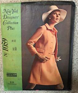 Vintage 1960s ORIGINALA New York Designers Collection Plus Sewing Pattern Dress