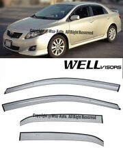 For 09-13 Toyota Corolla WellVisors Side Window Visors Premium Series