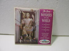 Vintage Sawyer's Viewmaster The Seven Wonders Of The World 3 Reel Set 1962 t3901
