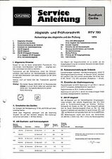 Service Manual-Anleitung für Grundig RTV 720