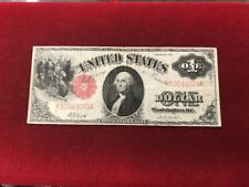 1917 $1 USN,Saw Back,Legal Tender Note,Large Red Seal,circulated VF