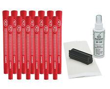 "13 Red Avon Chamois .580"" Ribbed Golf Grips - Free Grip Kit"