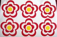 Fleur stickers/tranfers x 6, voiture, pépinière, murs, coffres à jouets, scrapbooking