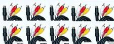 10 NEW LOT 9 Pin Stereo RCA AV A/V Cables Cord For Sega 32X System Console