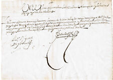 Rare 1608 President Miguel de Ibarra Signed 17th Century Document Ecuador Peru