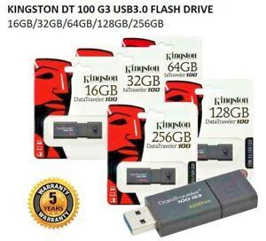 Kingston USB Stick Flash Drive (DT100 G3) 32GB.64GB.128GB 2.0/3.0