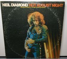 NEIL DIAMOND HOT AUGUST NIGHT (VG) MCA-2-8000 LP VINYL RECORD
