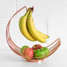 Large Copper Banana Hanger 35cm Metal Curved Kitchen Fruit Bowl Storage Dish