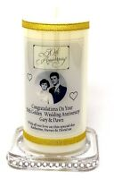 50th Golden Wedding Anniversary personalised Gift Photo candle   Cellini 8