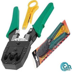 RJ11 ADSL Network RJ45 Crimping Tool Crimp Crimper Cable Cutter Plier + Stripper