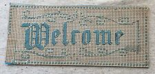 Antique Victorian Punch Paper Punched Paper Bristol Board Sampler  Welcome