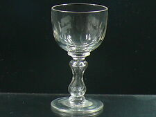 More details for an antique mid victorian wine glass with lens cuts and cup shaped bowl