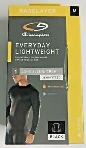 Champion C9 Base Layer Men's Medium Lightweight Semi Fitted Long Sleeve Black