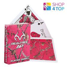 Bicicleta Realtree Rosa jugando a las cartas POKER cubierta Trucos De Magia Hecho en EE. UU. nuevo