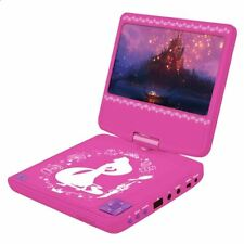 "DISNEY PRINCESS PORTABLE DVD PLAYER LEXIBOOK ROTATING LCD SCREEN 7"" KIDS"