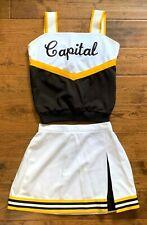 Nicole Adam's CAPITAL Cheerleading Uniform CHEERLEADER Skirt &Top Sport MODEL