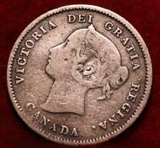 1871 Canada 5 Cents Silver Foreign Coin