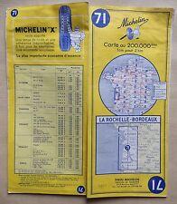 carte MICHELIN 71 LA ROCHELLE - BORDEAUX 1964 (exemplaire n° 2)