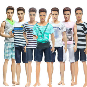 8 Pcs = 4 Set Sports Outfit Shorts Shirt Clothes For 12 in. Ken Doll Kid Gift AA