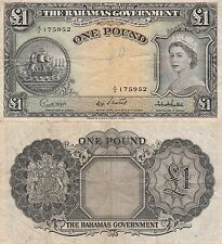 Bahamas 1 Pound Banknote,(1953) Choice Fine Condition Cat#15-C-5952