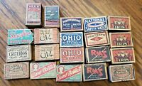 Antique/Vintage Safety Empty Match Boxes Lot of 20 Advertising Etc. Rare